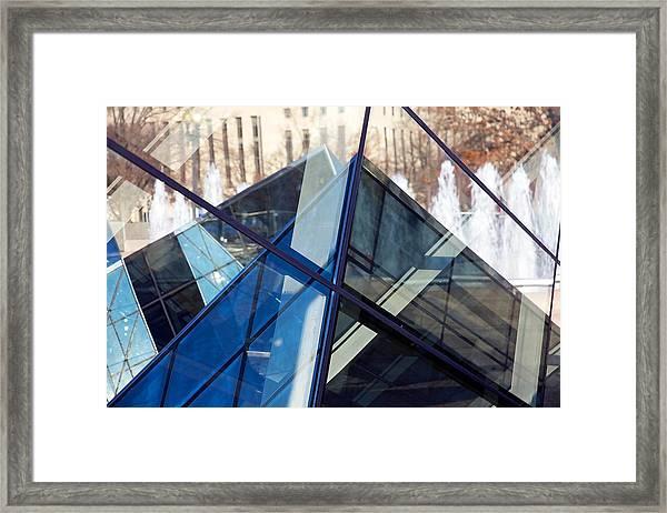 Pyramid Skylights Framed Print