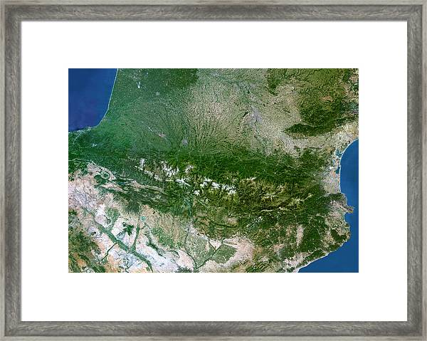 Pyrenees Mountains Framed Print