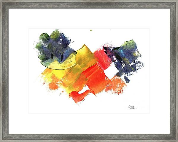 Quack Quack Abstract Duck Framed Print