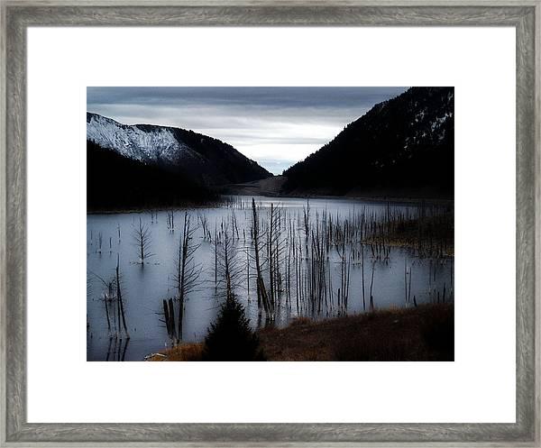 Quake Lake Framed Print