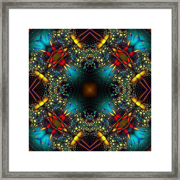 Quasar Kaleidoscope No 1 Framed Print