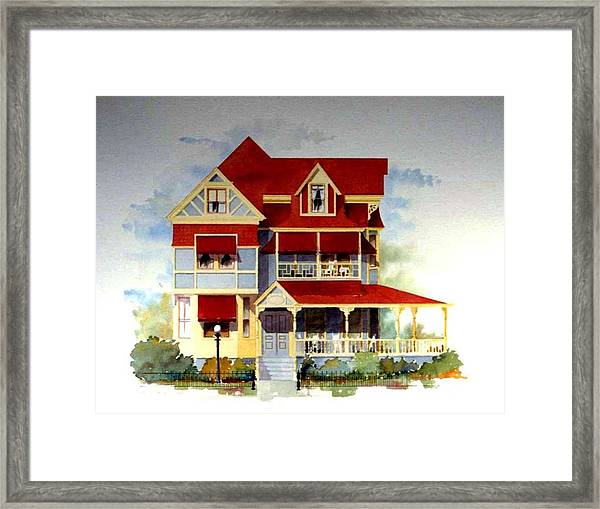 Queen Anne Victorian Framed Print