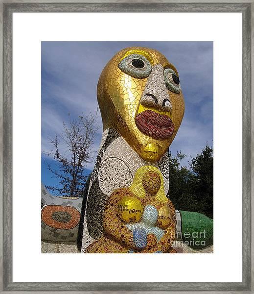 Queen Califias Magic Circle Garden - 04 Framed Print
