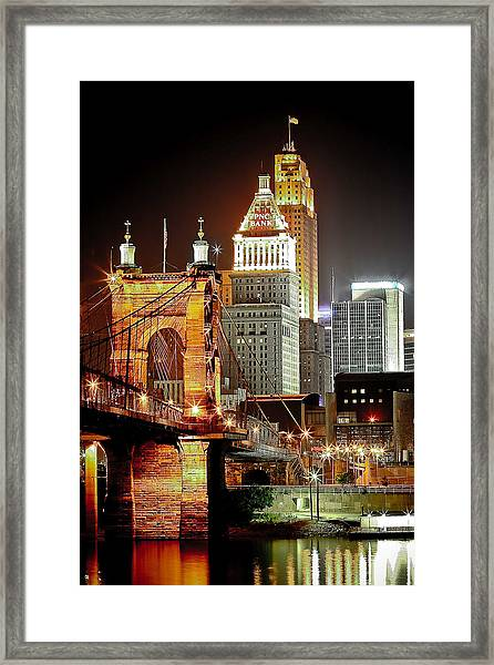 Queen City At Night Framed Print