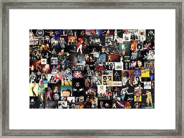 Queen Collage Framed Print