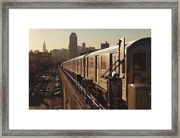 Queens Subway Framed Print