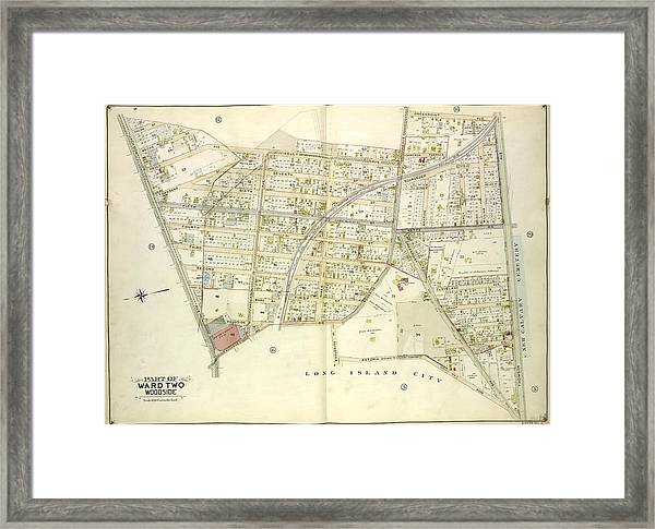 Queens, Vol. 2, Double Page Plate No. 15 Part Of Ward Two Framed Print