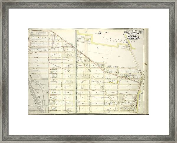 Queens, Vol. 2, Double Page Plate No. 5 Part Of Long Island Framed Print