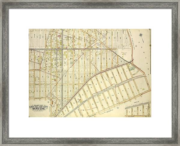Queens, Vol. 2, Double Page Plate No. 6 Part Of Long Island Framed Print