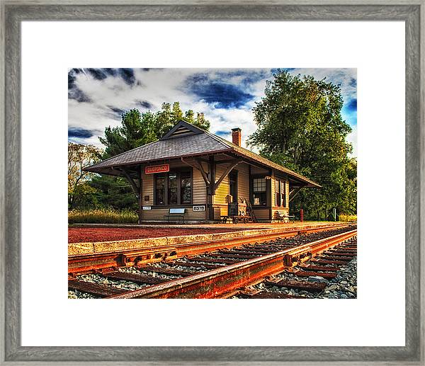 Queponco Railway Station Framed Print