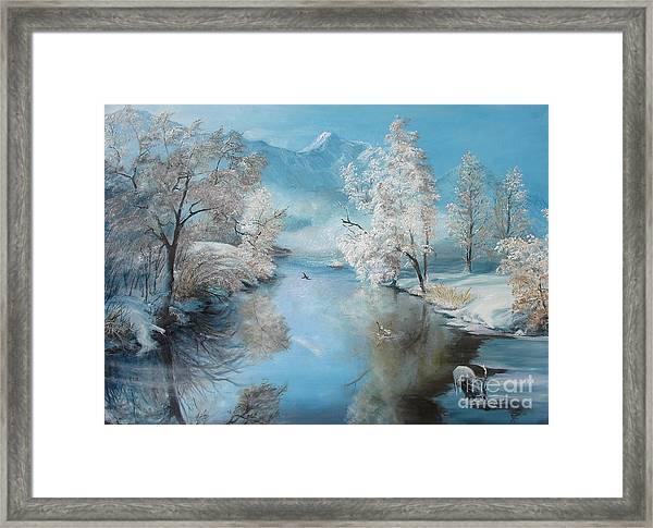Quiet Ice  Framed Print