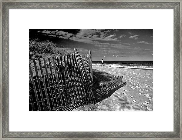 Quiet Moment At The Shore Framed Print