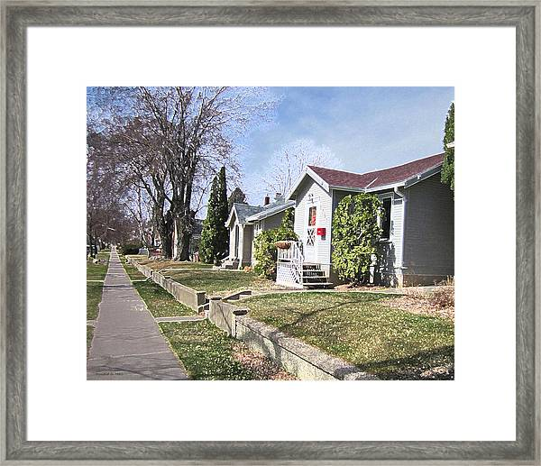 Quiet Street Waiting For Spring Framed Print