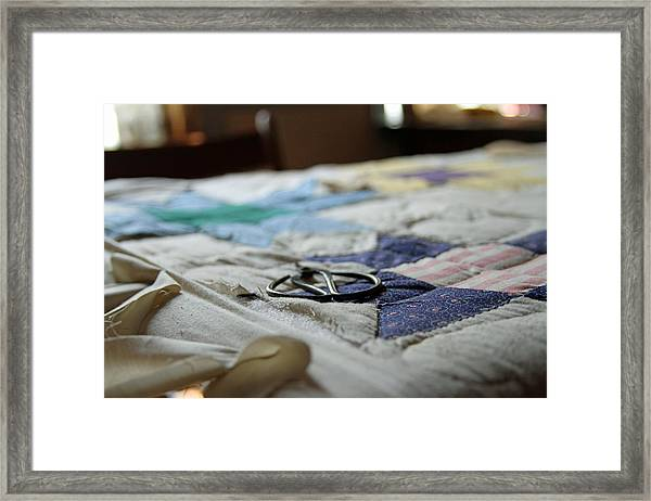 Quilting Framed Print
