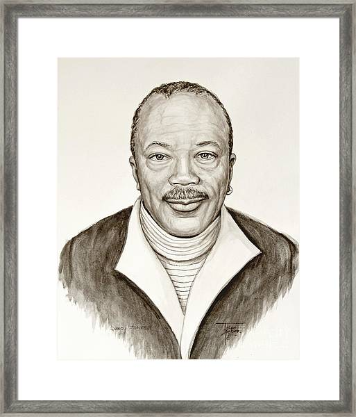 Quincy Jones Framed Print
