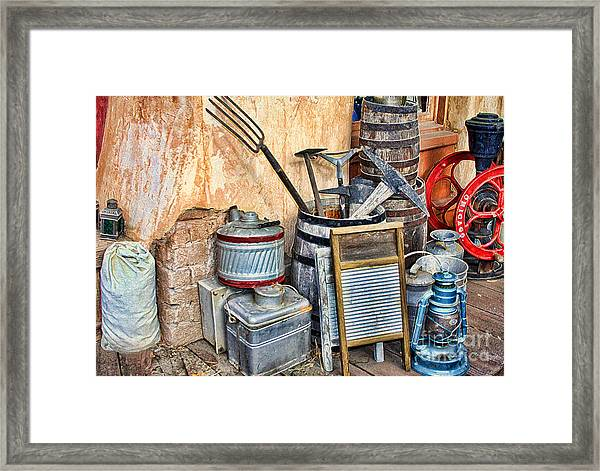Quitting Time By Diana Sainz Framed Print
