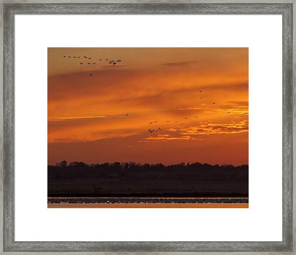 Quivira Sunset 1 Framed Print