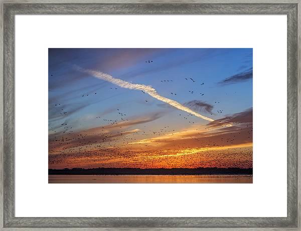 Quivira Sunset 2 Framed Print