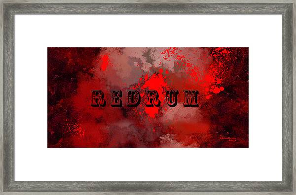 R E D R U M - Featured In Visions Of The Night Group Framed Print