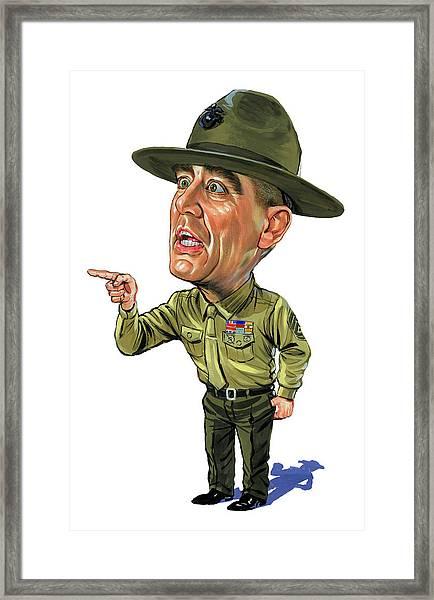 R. Lee Ermey As Gunnery Sergeant Hartman Framed Print