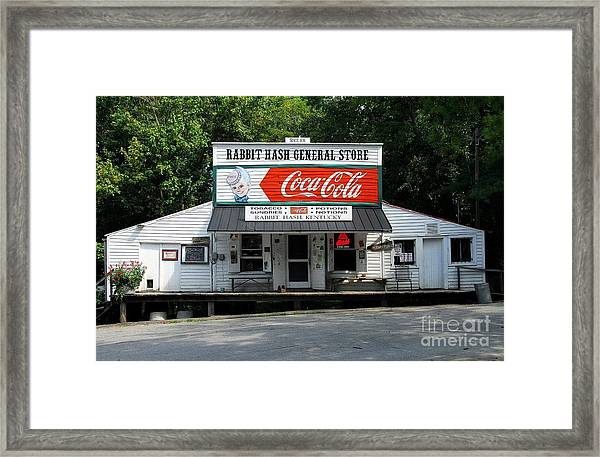 Framed Print featuring the photograph Rabbit Hash by Mel Steinhauer