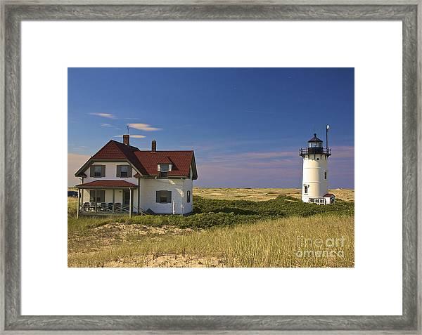 Race Point Lighthouse In Summer Framed Print
