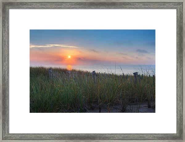 Race Point Sunset Framed Print
