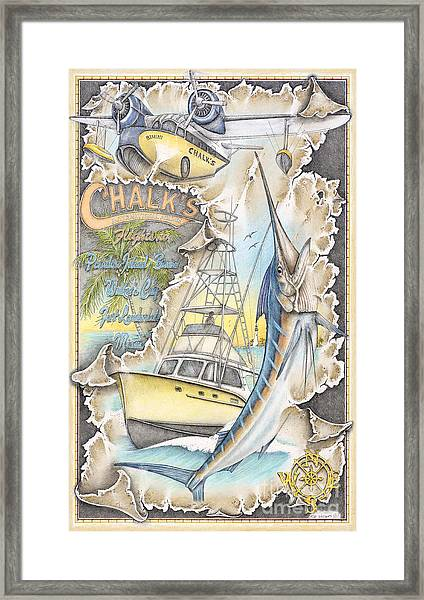 Race To Bimini Framed Print by Mike Williams