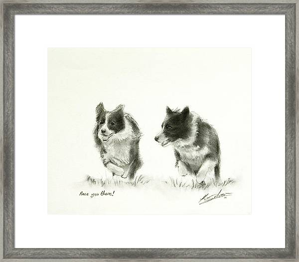 Race You There Framed Print