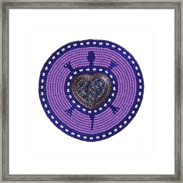 Purple Valentine 2011 Framed Print