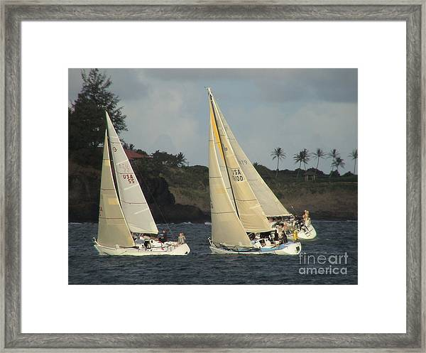 Racing In Kauai Framed Print
