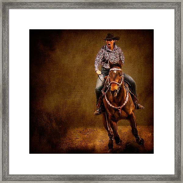 Racing To Win Framed Print