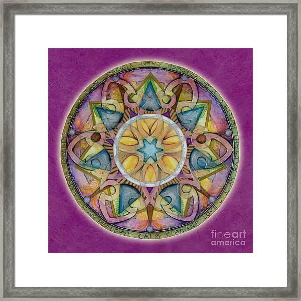 Radiant Health Mandala Framed Print