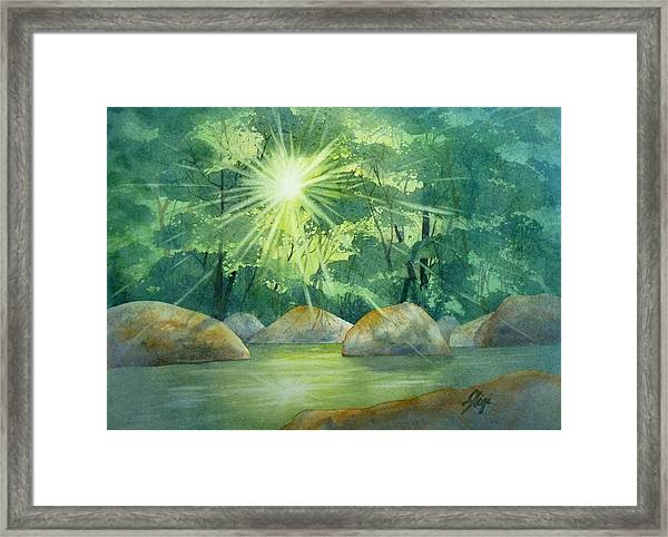 Framed Print featuring the painting Radiant Recess by Gigi Dequanne