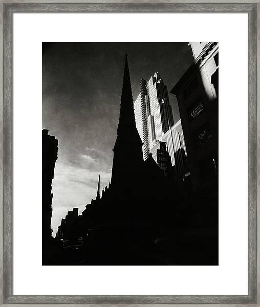 Radio City Music Hall In New York City Framed Print by Nicholas Muray