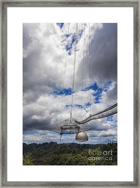 Radio Telescope At Arecibo Observatory In Puerto Rico Framed Print