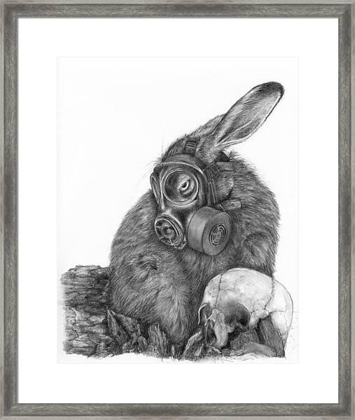 Radioactive Black And White Framed Print