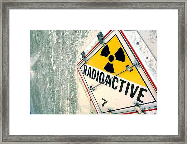 Radioactive Warning Sign Framed Print
