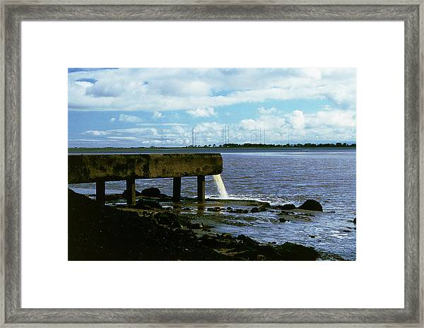 Radioactive Waste Pipe Framed Print by Martin Bond/science Photo Library