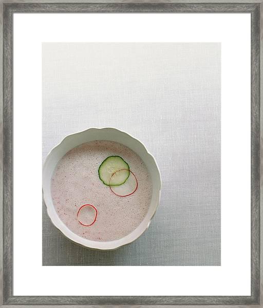 Radish Buttermilk Soup Framed Print