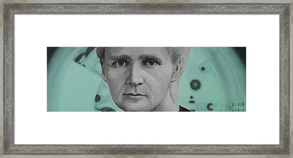 Radium- Marie Curie Framed Print by Simon Kregar
