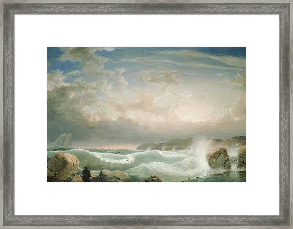 Rafes Chasm Gloucester   Massachusetts Framed Print