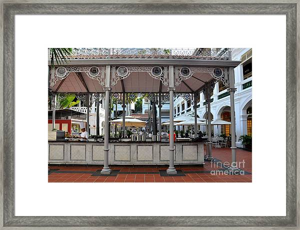 Raffles Hotel Courtyard Bar And Restaurant Singapore Framed Print