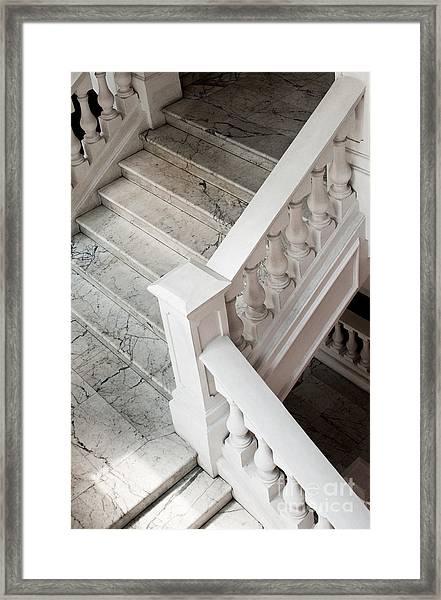 Raffle's Hotel Marble Staircase Framed Print