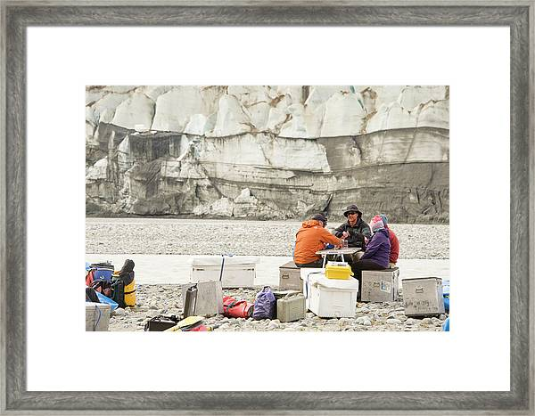 Rafters Playing Cards While Waiting Framed Print