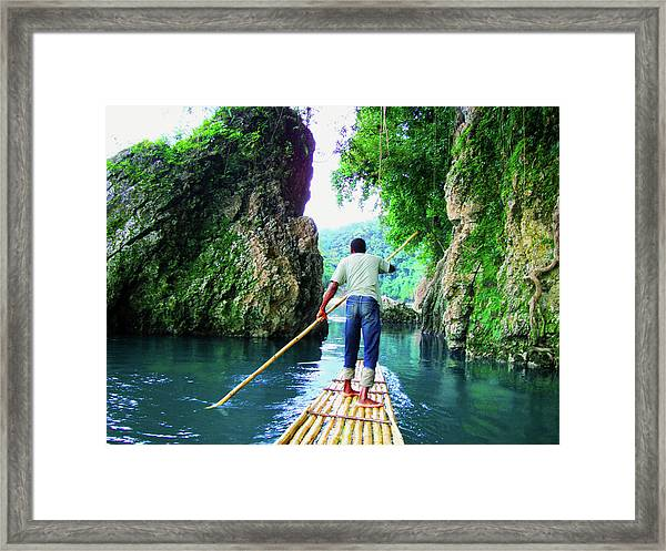 Rafting On The Rio Grande Framed Print