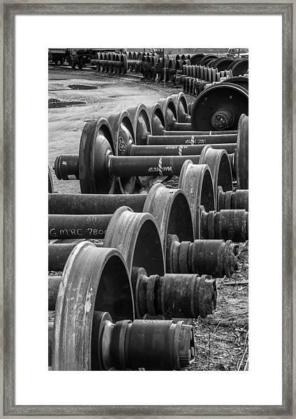 Railroad Wheels Framed Print