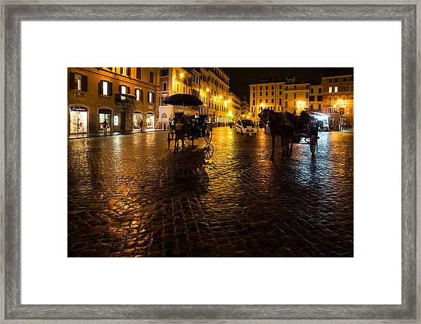 Rain Chased The Tourists Away... Framed Print