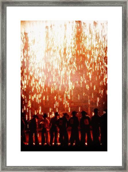 Rain Of Fire Framed Print