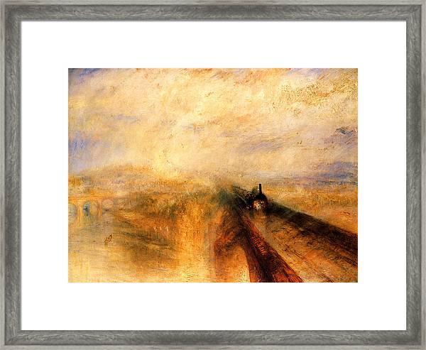 Rain Steam And Speed.  Framed Print